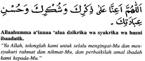 Bacaan doa setelah sholat fardu dan artinya5